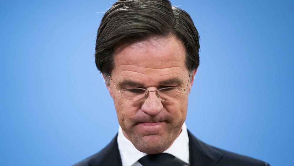 El hasta ahora primer ministro holandés, Mark Rutte