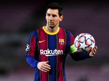 Leo Messi, expulsado ante el Athletic