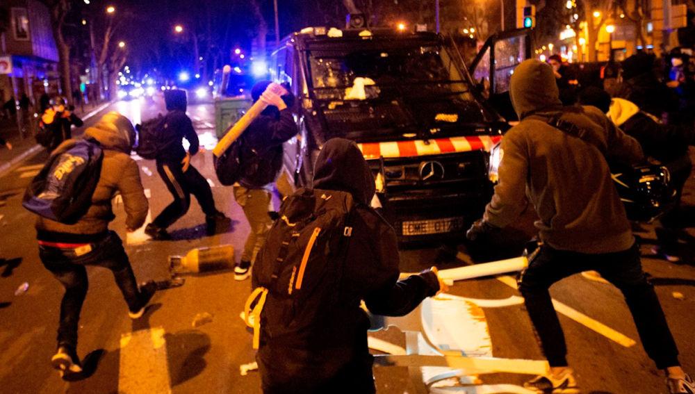 Disturbios en Madrid por la detención de Pablo Hasel