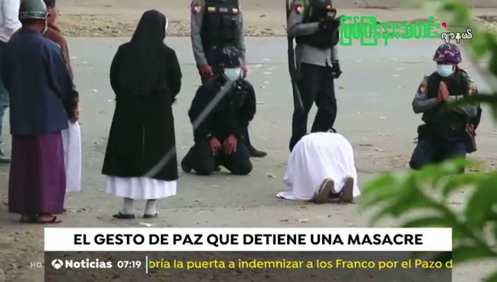 La monja de Myanmar que se interpone entre los militares y los niños