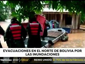 Alarma en Bolivia por las fuertes lluvias, desbordamiento de ríos e inundaciones