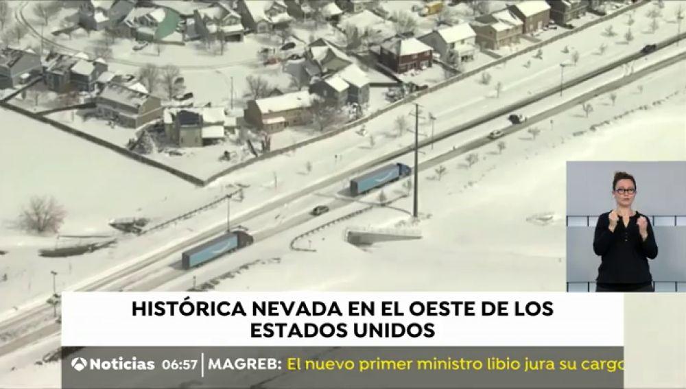 Histórica nevada en el oeste de los Estados Unidos que afecta a 30 millones de personas en el país