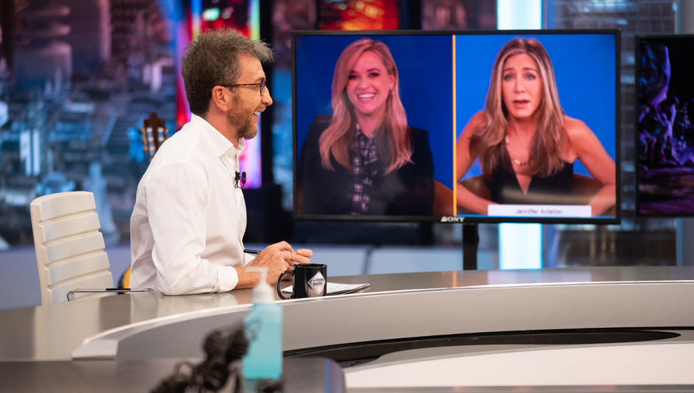Jennifer Aniston confiesa que se inspiraron en 'El Hormiguero 3.0' para poder grabar una serie en plena pandemia