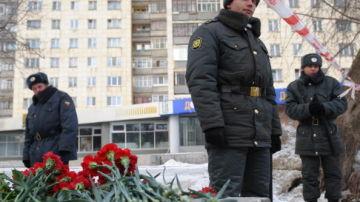 Imagen de archivo de agentes de policías rusos en la ciudad de Perm