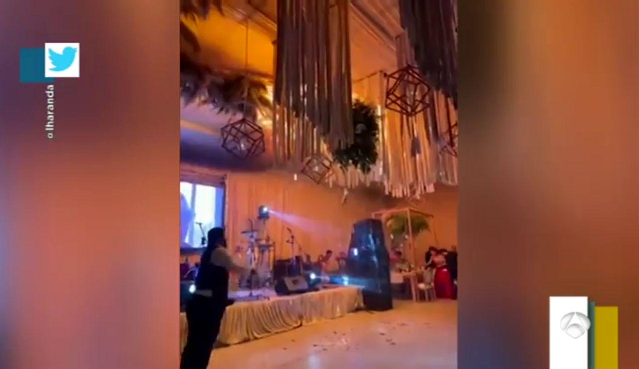 Incendio durante el baile de los novios en una boda en México