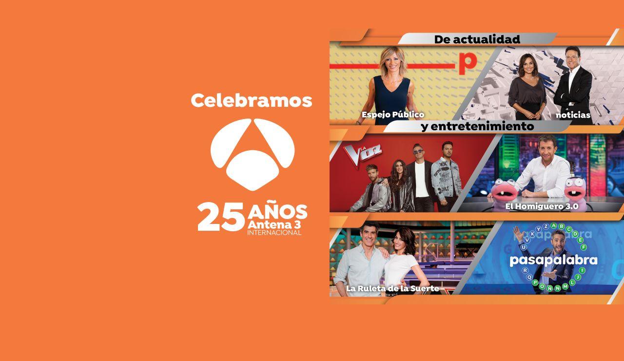 Antena 3 Internacional cumple 25 años