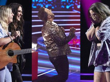 Noche de plenos y exitosas segundas oportunidades en la cuarta noche de Audiciones a ciegas de 'La Voz'